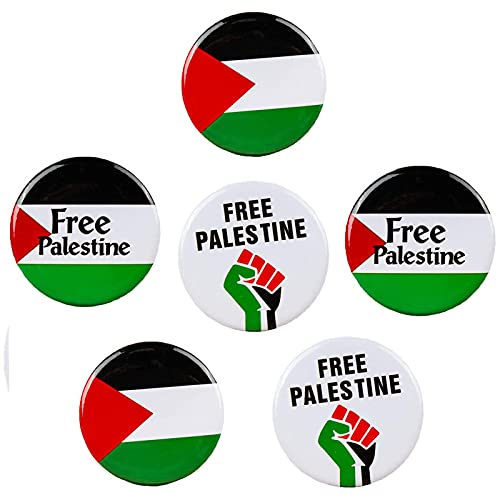 HHIAK666 Insignia De Palestina Gratis - Botones De La Bandera De Palestina Insignias De Pines, Insignias De Libertad De PuñO De La Bandera De Palestina Gratis 6PCS