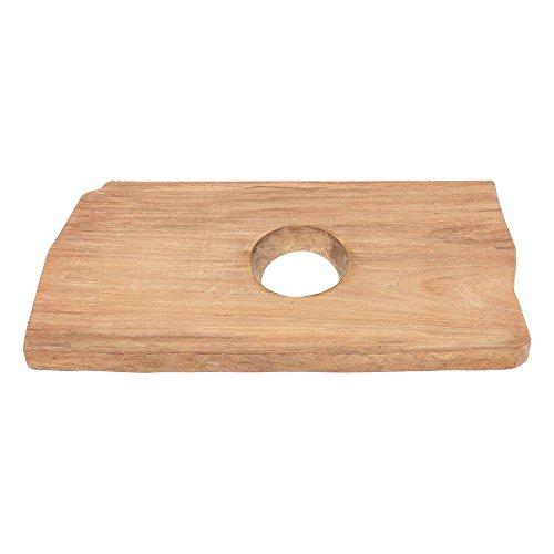 wohnfreuden Teakholz Waschtischplatte - Holz-Platte für Waschbecken 60-80 cm