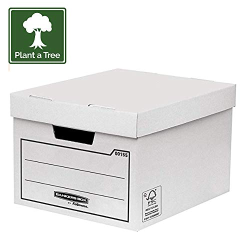 Bankers Box 00155 Aufbewahrungsbox, 10 Stück, weiß
