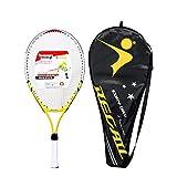 CLISPEED Raqueta de Tenis Junior para Niños Raqueta de Inicio para Niños Pequeños con Funda para Niños Y Niñas (Amarillo)