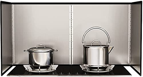Protector Salpicaduras Cocina Protector plegable contra salpicaduras de aceite Paneles a prueba de salpicaduras Tablero de aislamiento de aceite resistente, aislamiento térmico antisalpicaduras Defle