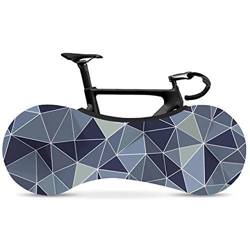 Fahrrad-Rad-Abdeckung Bike-Abdeckung Hochwertiges elastisches Gewebe geometrische Reihe Straßen-Fahrrad-Indoor-Staubschutz ZHQHYQHHX (Color : 7, Size : Kostenlos)