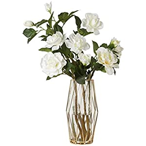Fake Flower WGZ Gardenia Artificial Flower Artificial Flower Set Decoration Living Room Coffee Table Table Flower Office Floral Bouquet Decoration