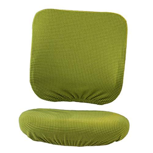 Abnehmbare Bezug Hussen Sitzbezug für Bürostuhl Chefsessel Schreibtischstuhl - Gelbgrün