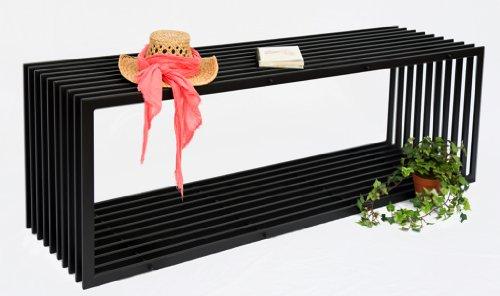 DanDiBo Bank D-stijl 150 cm moderne tuinbank 10103 zitbank van metaal ijzer bloemenbank