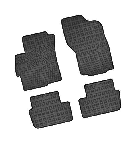 Bär-AfC MI02384 Gummimatten Auto Fußmatten Schwarz, Erhöhter Rand, Set 4-teilig, Passgenau für Modell Siehe Details