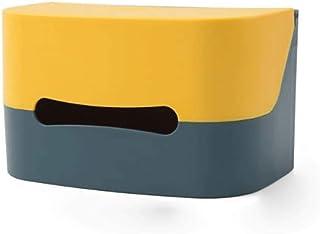 CHENCZJH Multifunktionell Hemlagring Vävnadslåda Vägg Hängande Free Perforerad Väggpumpning Papper Box Kök Papper Artifact...