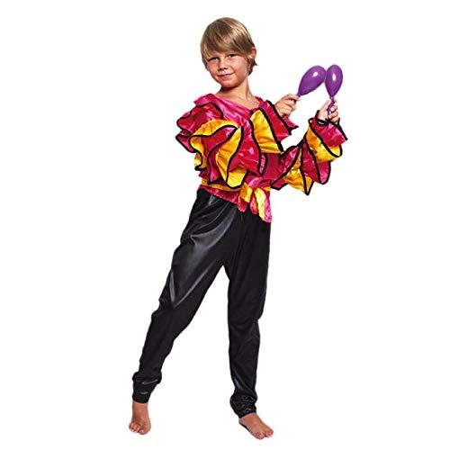 Disfraz Rumbero Fucsia Niño (10-12 años) (+ Tallas) Carnaval Mundo