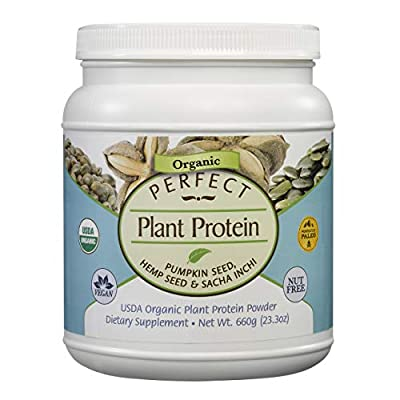 Perfect Supplements Plant Protein - Pumpkin Seed, Hemp Seed, Sacha Inchi - 660g
