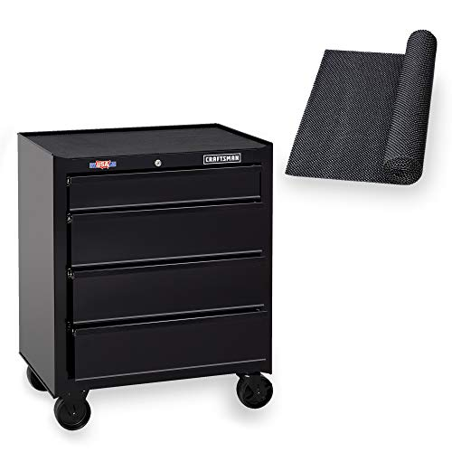 CRAFTSMAN Tool Chest with Drawer Liner Roll, 26-Inch, 4 Drawer, Black (CMST82765BK)