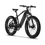 VELOWAVE Electric Bike Adults 750W BAFANG Motor 48V 16Ah Lithium-Ion Battery Removable 26'' Fat Tire Ebike 25MPH Snow Beach Mountain E-Bike Shimano 7-Speed UL Certified Black/Gray