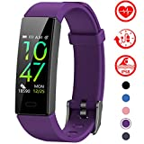 Mgaolo Fitness Tracker with Blood Pressure Heart Rate Sleep Monitor,10 Sport Modes IP68 Waterproof Activity Tracker Fit Smart Watch with Pedometer Calorie Step Counter for Women Men Kids (Purple)