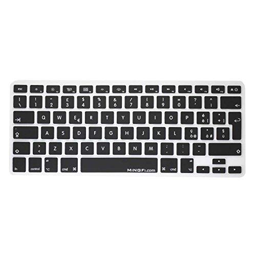 MiNGFi Italia Italian Copritastiera Silicone Coperchio della Tastiera per MacBook PRO 13' 15' 17' Aluminum Unibody And MacBook Air 13' European/IT/UK/DE/FR Layout - Nero