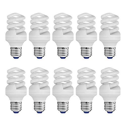 10 x Müller-Licht ESL Energiesparlampe Spirale 11W = 57W E27 230V 680lm warmweiß 2700K 8000h