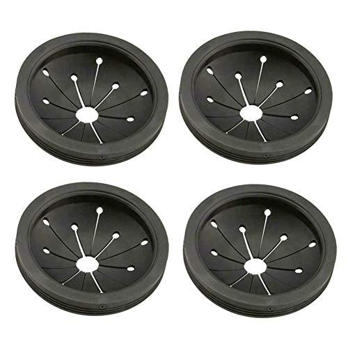 Luyao - 4 anillos para fregadero de cocina, accesorios para desechar residuos de alimentos, accesorios para molinillo de residuos de cocina negro