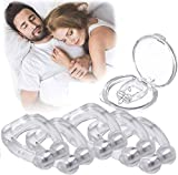 Latest Anti Snoring Device Silicone Magnetic Anti Snore Nose Clips, 2020 New Version Stop Snoring Solution Comfortable Professional Sleeping Aid Relieve Snore for Men Women(5 pcs)