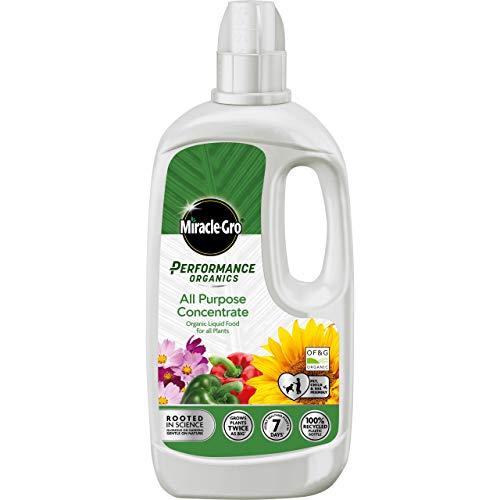 Wunder Gro Performance Organics Allzweck Pflanze Food-1 Liter (Biene, Haustier & Kind Freundlich), Grau