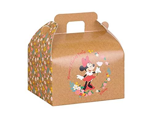 v Scatole Box Cotillon Porta Dolci per Feste Party e Compleanni 12 pz (Minnie flowes Party 68227)