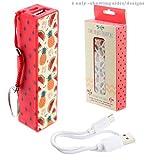 Porte-cl%3F+Chargeur+USB+Portable+-+Ananas+%26+Past%3Fque+Tropical