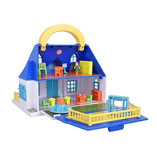 Tylyund DIY Casa de muñecas casa De Juegos para Niños, Juguete para Niña, Maleta, Casa De Muñecas, Conjunto De Ensamblaje, Kits De Construcción De Modelos De Juguete, Casa De Villa, Muebles DIY