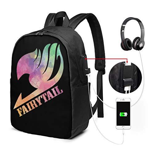 Fairy Tail Sac à Dos Ordinateur Portable Homme Imperméable avec USB Charging Port Sac à Dos d'affaires Sac à Dos Fonctionnel Sac A Dos 84263152