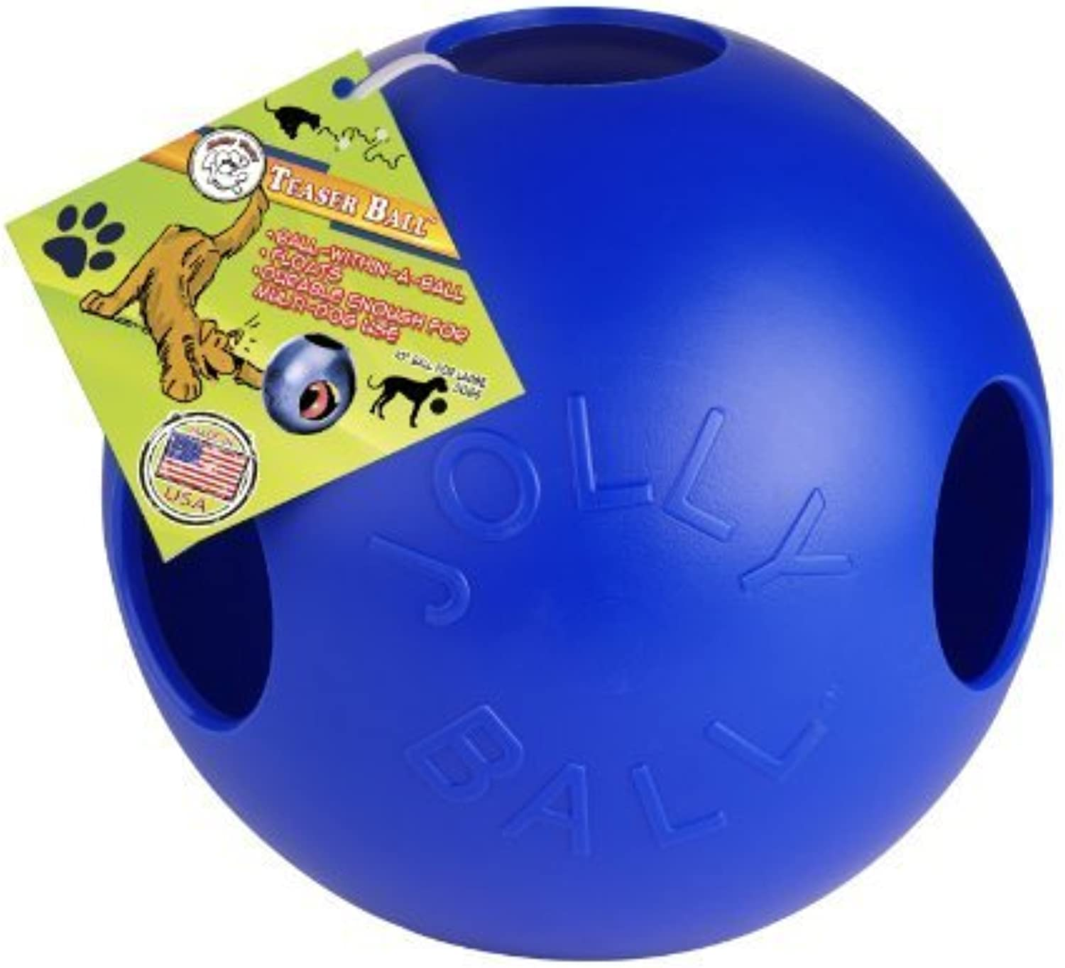 Jolly Pets 10Inch Teaser Jolly Ball bluee by Pet (English Manual)