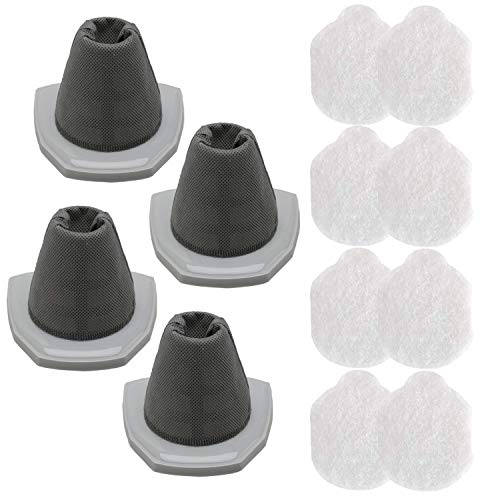 YUEFENG 4 Pack Vacuum Filter Set for Eureka NES215A 3-in-1 Stick Vacuum, NES210, NES212, NES215. Replacement to Part # N0101 & N0102 (4 Filters and 8 Pre-Motor Filters)