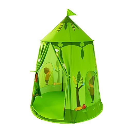 Einsgut Tienda de juegos para niños, plegable, diseño de príncipe Tree Castle, casa de juegos para interiores y exteriores, regalo para niños