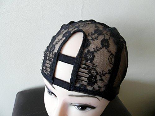 Small Black Middle U part Weaving Cap bonnet pour perruque. chapeau pour le tissage. filet pour tissage. avec peigne pour perruque. with Sturdy Straps. 1'' X 3.5'' UPart