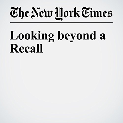 Looking beyond a Recall audiobook cover art