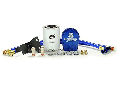 Sinister Diesel Coolant Filtration System for Ford 2003-2007 F-250, F-350, Excursion 6.0L Diesel with All Hardware – No Part Removal or Drilling Required For Filter - Easy Installation (Automotive)