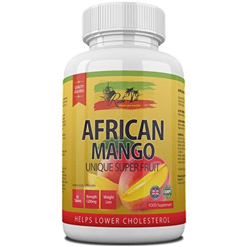 African Mango Tablets | Strong & Safe 1200mg Supplement from Wild Bush Gabonensis Seed Extract | High Dietary Pills for Women & Men | Suitable for Vegans & Vegetarians | Made in the UK & GMP Certified