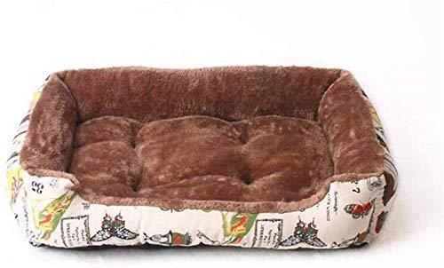IUYJVR Cama para Mascotas Perrera Invierno Cálido Engrosamiento Nido para Mascotas Golden Retriever Colchón para Cama para Perros pequeños, medianos y Grandes, A, 50CM (Color: B, Tamaño: 90CM)