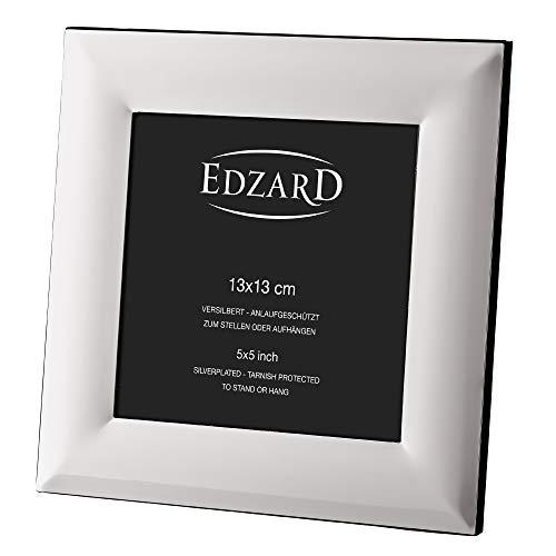 EDZARD Fotorahmen Gela für Foto 13 x 13 cm, edel versilbert, anlaufgeschützt, mit Aufhänger