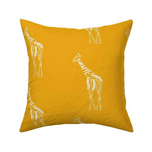 Yellow Giraffe Pillow