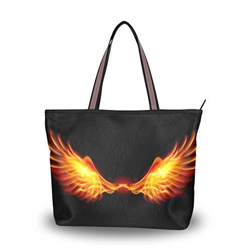 Bolsa de ombro My Daily feminina com asas de fogo, Multi, Large