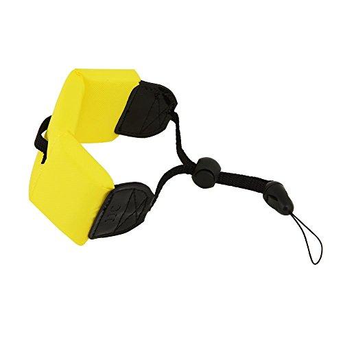 BKAUK voor strand, zwembad, rivier!Waterdichte digitale camera geschikt voor D10 / TX5 Drijvende band/polsband (geel)