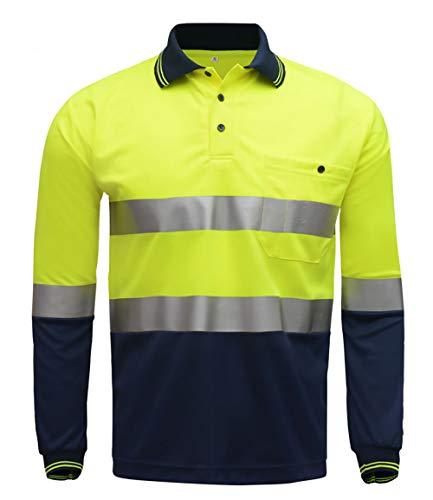 Yuyudou waarschuwingsbescherming motorfiets-rijhemd, fluorescerende fietsshirt voor heren en dames, reflecterende veiligheidskleding