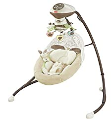 Image of Fisher Price Snugabunny Cradle and Swing with link to purchase through Amazon