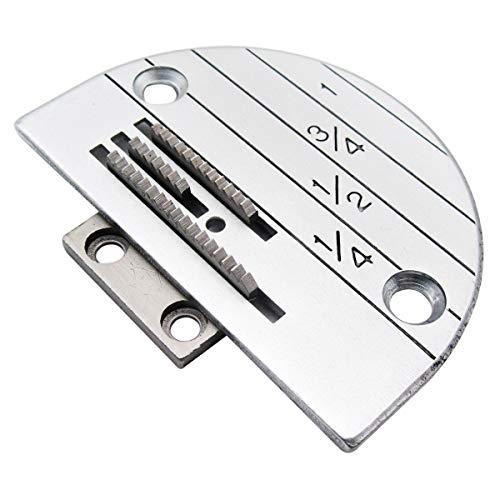KUNPENG - PLACA Y máquina de coser diente DE AGUJA - para YAMATA FY5318 ARTISAN 797 797A 797AB - #12482LGW+12481 1 conjunto