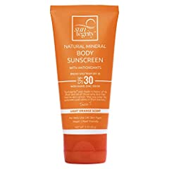 UV Chemical-Free Sunscreen Broad Spectrum SPF 30 Protection - Protects against UVA/UVB Damage Free of Parabens, Phthalates and Mineral Oil Cruelty Free and Vegan Non-Greasy for Smooth Application