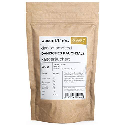 Dänisches Rauchsalz - 500g kaltgeräuchertes Meersalz - danish smoked salt, vegan - Qualität von wesentlich.