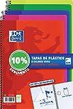 Cuadernos Folio(A4) Oxford. Pack 5 unidades. Tapa Plástico. 80 Hojas cuadrícula 4x4. Surtido colores vivos.
