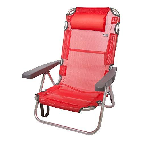 Aktive Klappstuhl aus Aluminium mit mehreren Sitzeinstellungen, Beach
