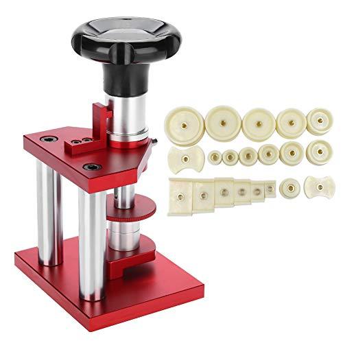 Prensa de reloj, tornillos de 18 mm a 50 mm, tornillos con clavos y 20 matrices para cierre cerrado, reloj de tapa trasera, cierre trasero