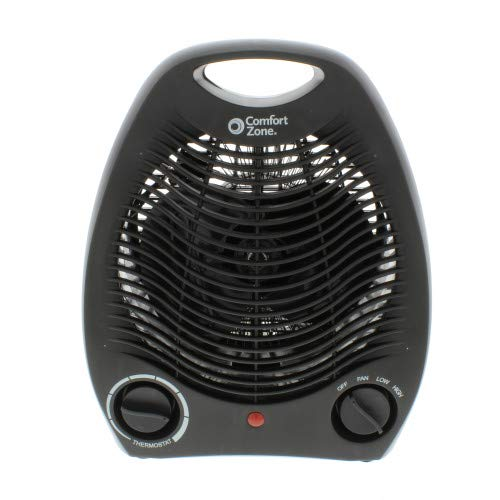 Comfort Zone CZ40BK 1500 Watt Portable Heater with Thermostat, Black