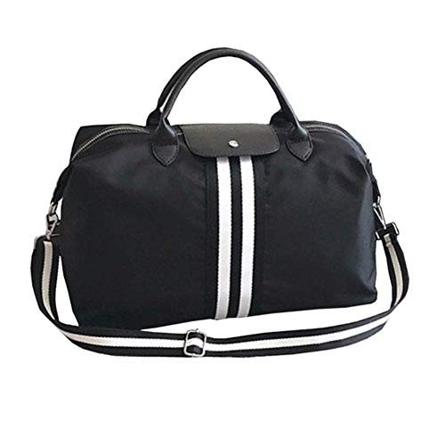 JWIL Sports Duffels Large Training Sport Holdall Travel Overnight Weekend Bag For Men And Women Sports Gym Bag Duffel Bags for Yoga Swim (Color : Black, Size : 58x18x33cm)