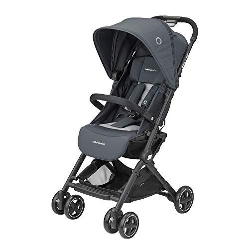 Bébé Confort Lara Passeggino Pieghevole Ultra Compatto, Unisex Bambini, dalla nascita fino a 3.5 anni/0-15 kg, Grigio (Essential Graphite)