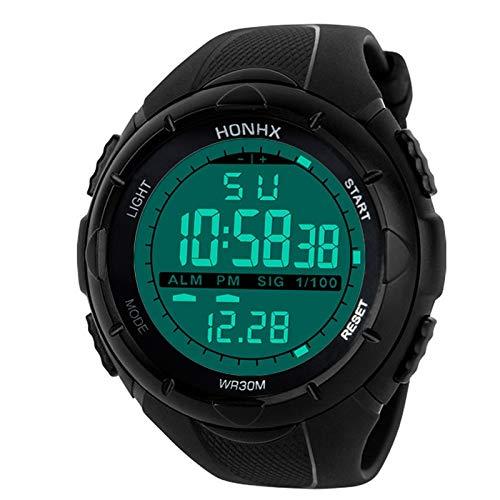 MDYH PTTCC AYSMG Reloj Deportivo Hombre Analógico Digital Militar Ejército de Silicona Deporte LED Relojes Relojes Hombre (Color : Black)