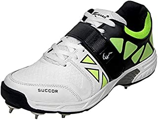 ZIGARO succor White Green Full Spikes Cricket